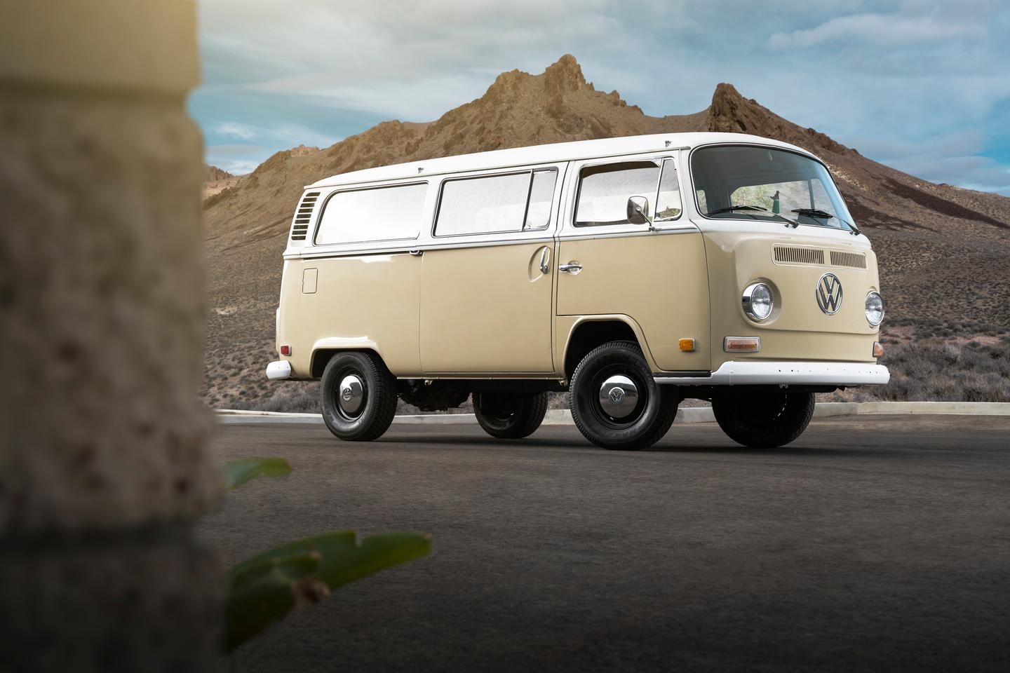 Volkswagen and EV West turn a 1972 VW Type 2 into an all-electric van