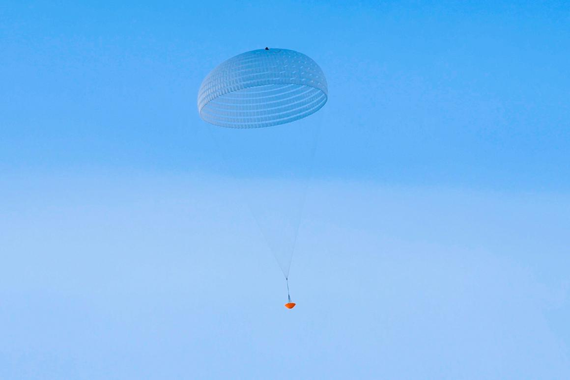 The parachutes for the ExoMars 2020 mission undergo testing earlier in the year