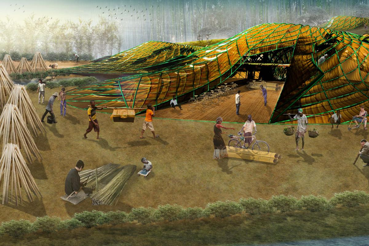 The Bamboo Lakou proposal calls for sustainably-sourced bamboo to be used to jump-start a new infrastructure for Haiti (Image: John Naylor)