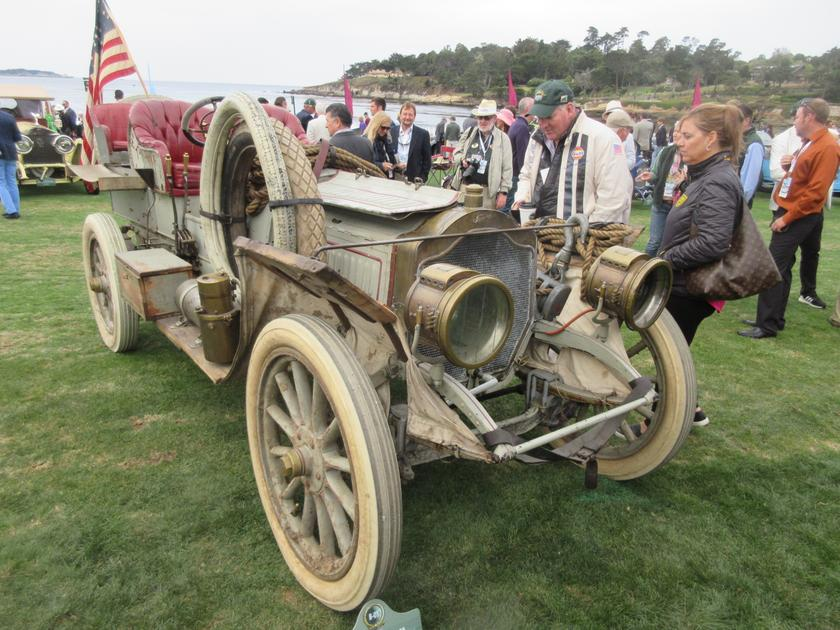 The 1907 Thomas Flyer 35 which won 1908 New York to Paris Race. The car normally resides in the National Automobile Museum (The Harrah Collection) in Reno, Nevada