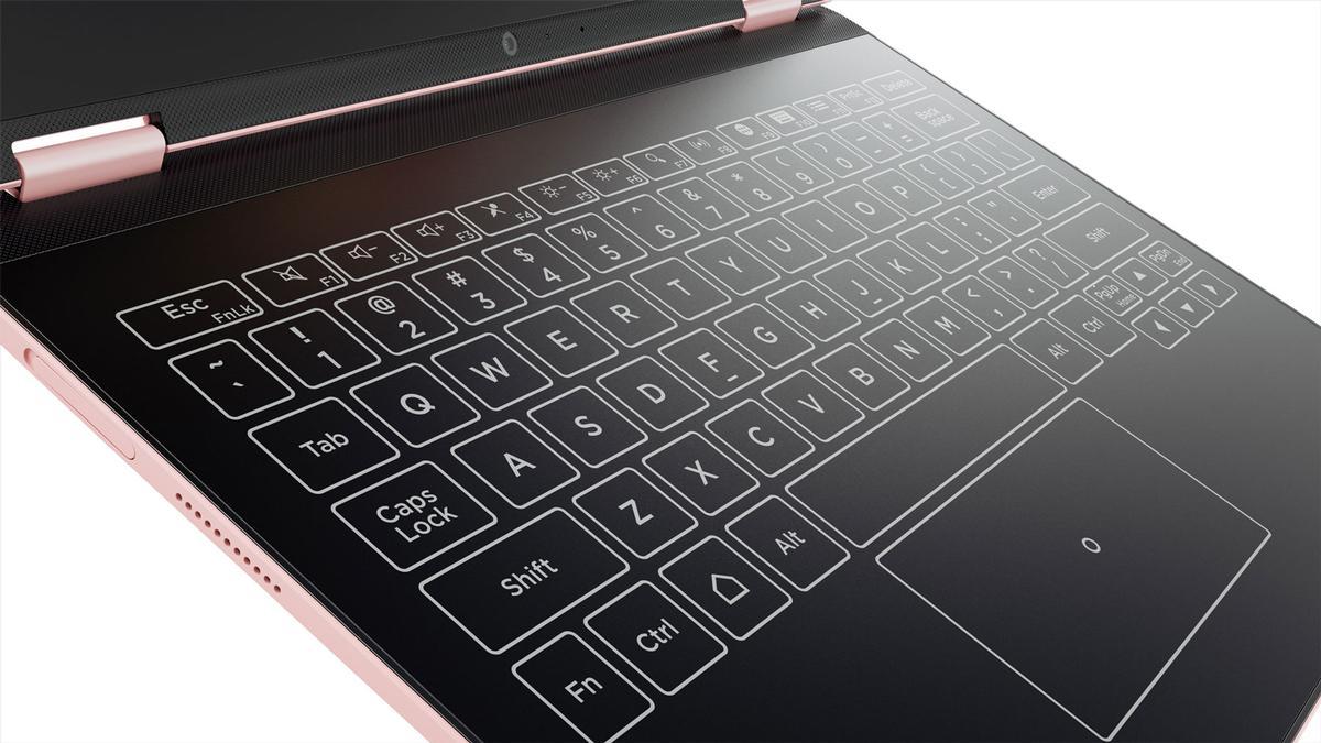 Touchscreen Halo keyboard