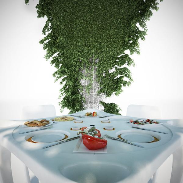 """""""Bye bye wind"""" garden table"""