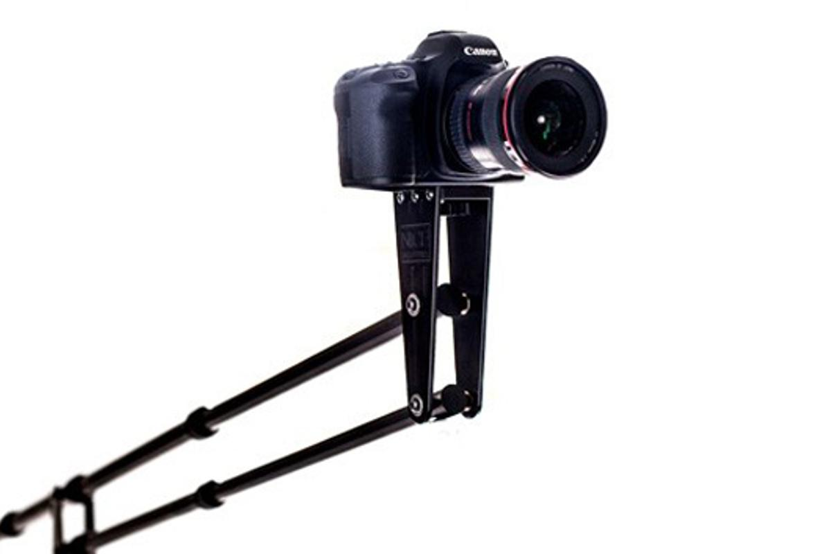The Aviator Travel Jib can be attached to most video and photo tripods and supports cameras up to 6 lbs (2.72 kg)