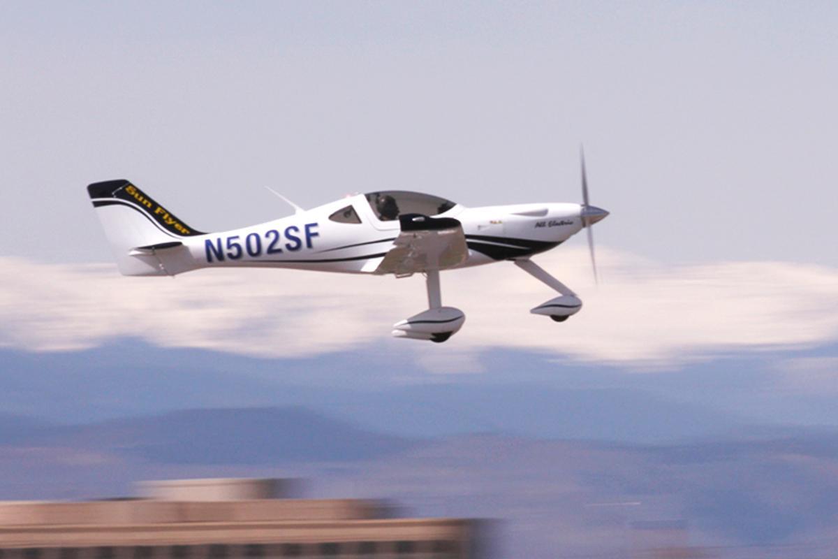 Sun Flyer 2 taking off on its maiden flight on April 10