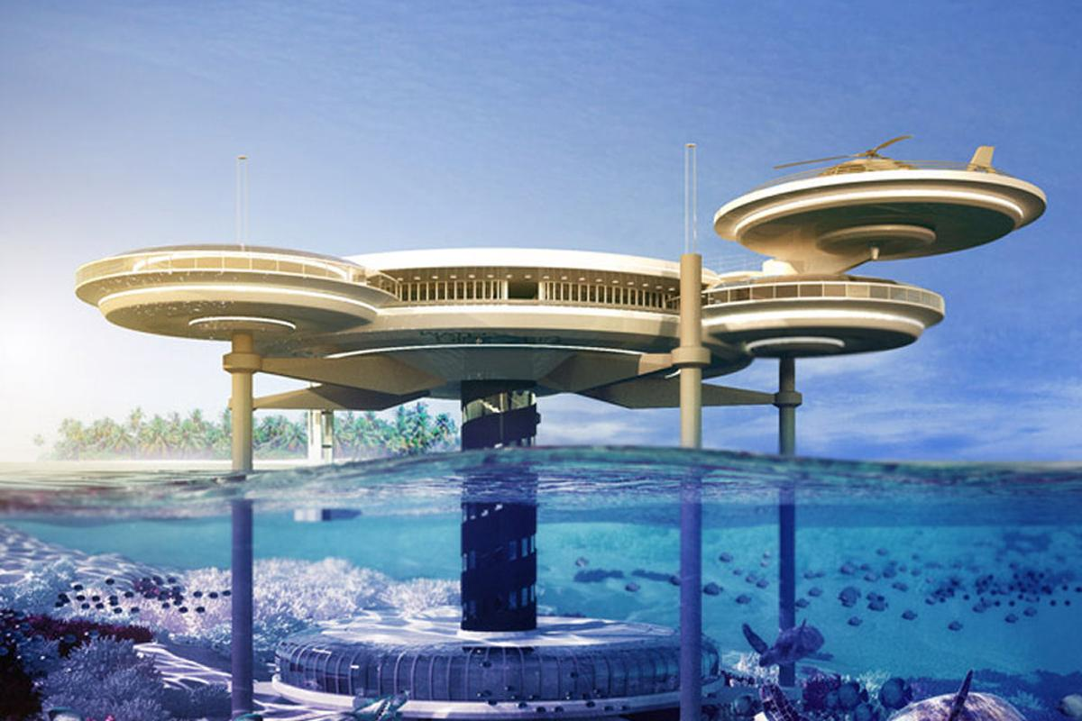 The Water Discus underwater hotel, scheduled for construction in Dubai