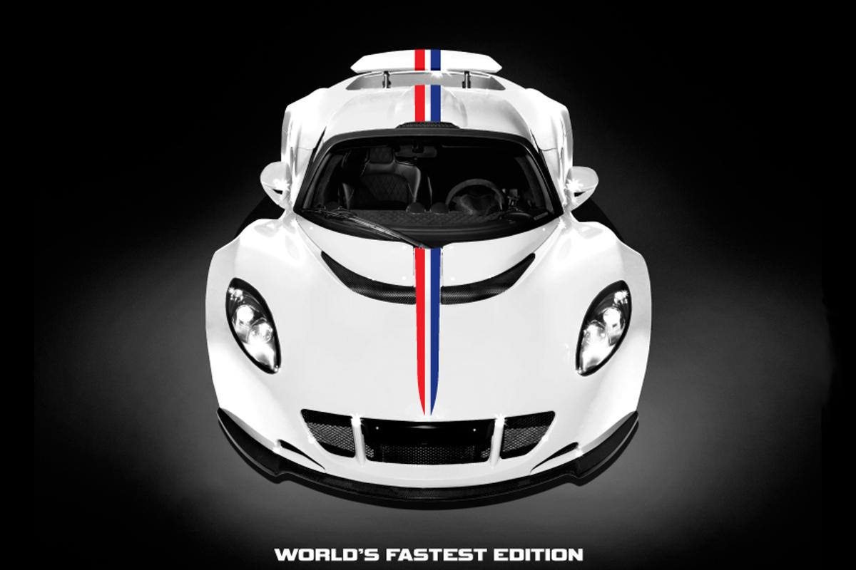 The Venom GT WFE has a new livery that incorporates the colors of the American flag