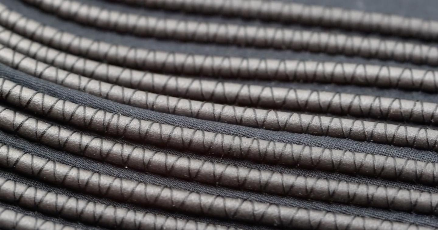 A close look at the polymer tubing used in the ThermoCore active cooling system