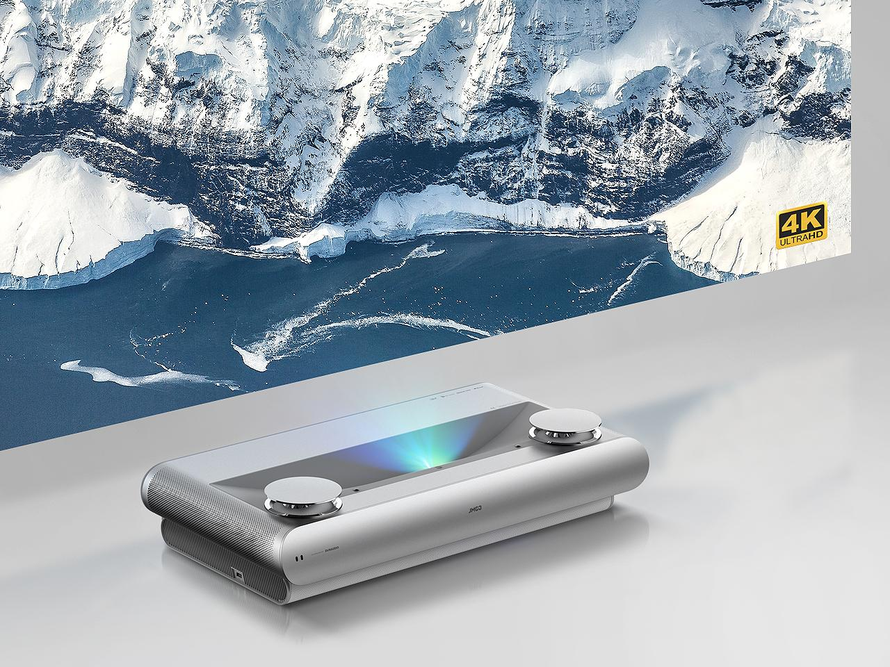 The JMGO U2 ultra-short-throw laser projector is capable of 4K UHD resolution with support for the BT.2020 color standard and HDR10