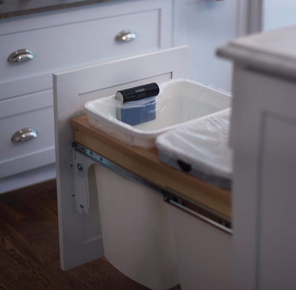 With Dash Replenishment integration, the garbage can-tracking GeniCan device can re-order items automatically