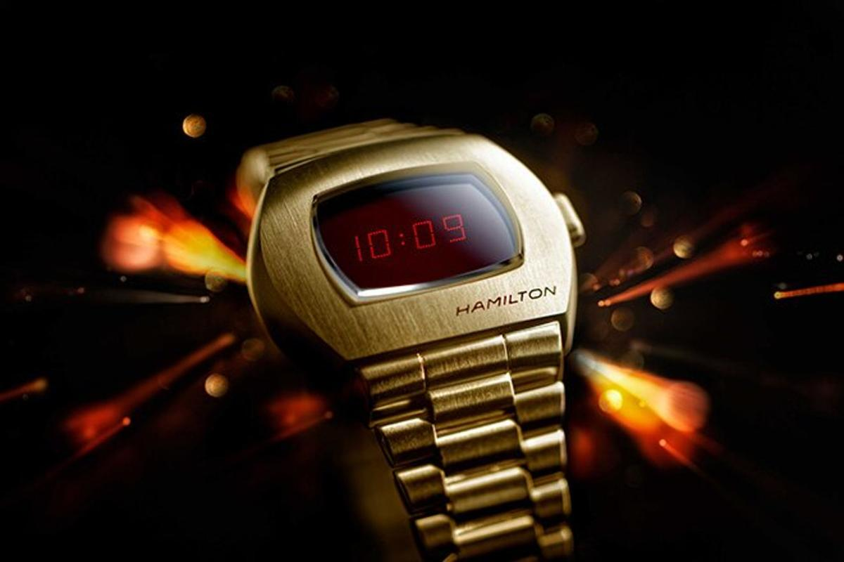 The Hamilton PSR is an update of the world's first electronic digital watch
