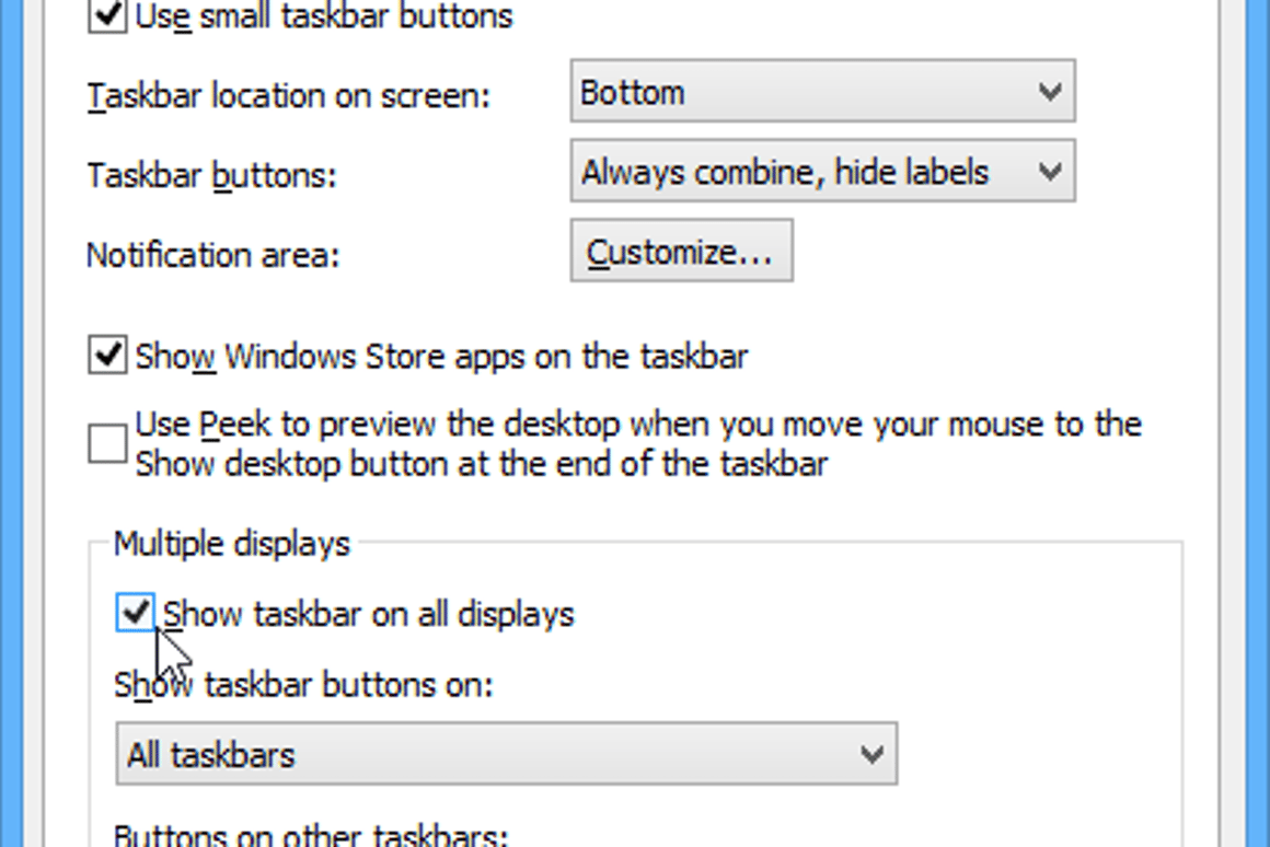 How to use new Taskbar features in latest Windows 8 1 update
