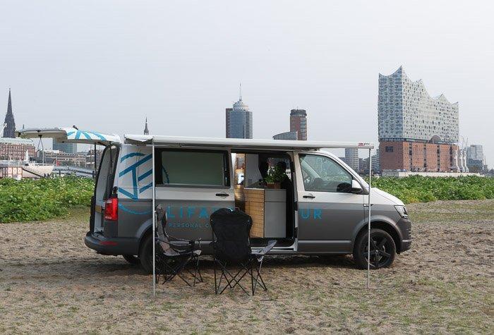 Alittle urban camping in the Bullifaktur VWvan