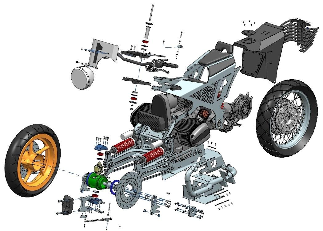 The Watkins M001: exploded view