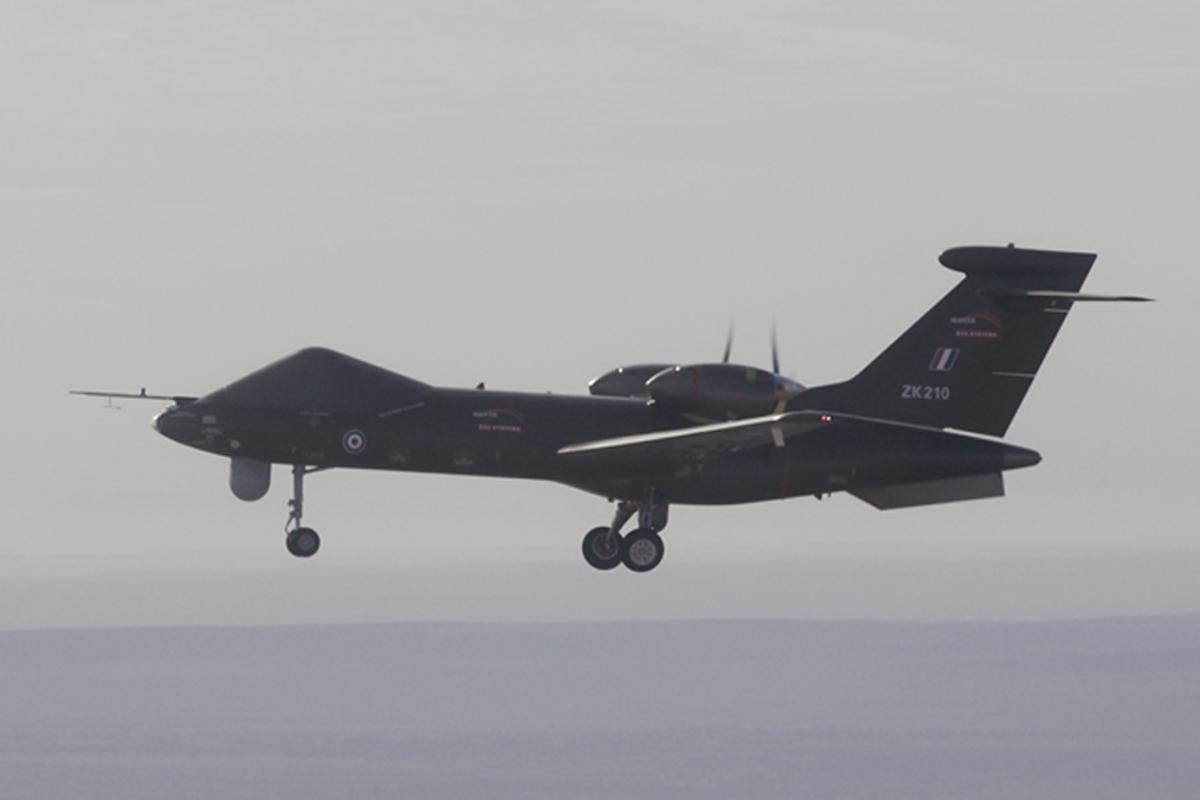 The first test flight of the Mantis next generation UAS