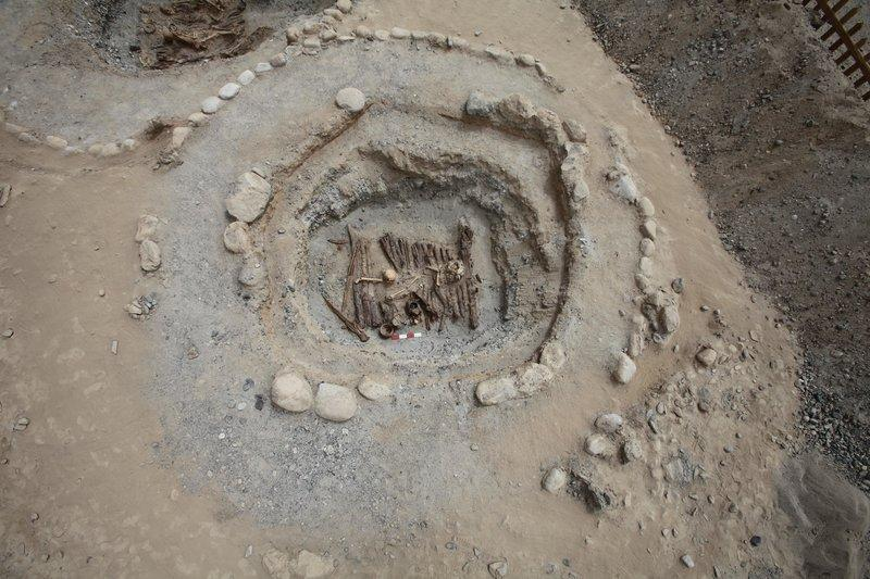 An aerial view on the 2,500-year-old tomb