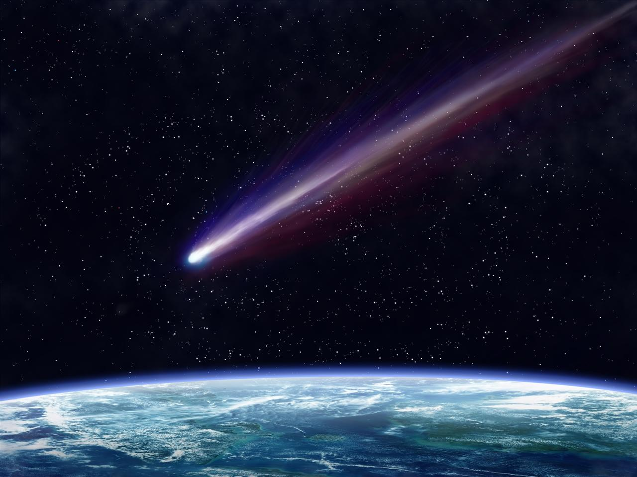 Artist's impression of an impactor heading for Earth