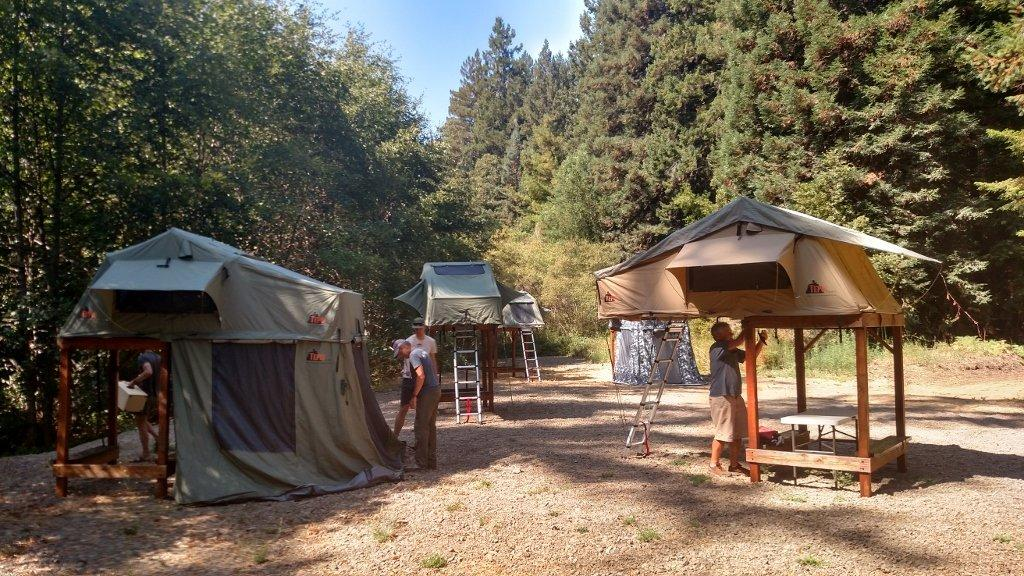 Roof-top tent specialist Tepui offers its own way of getting the tent off the roof