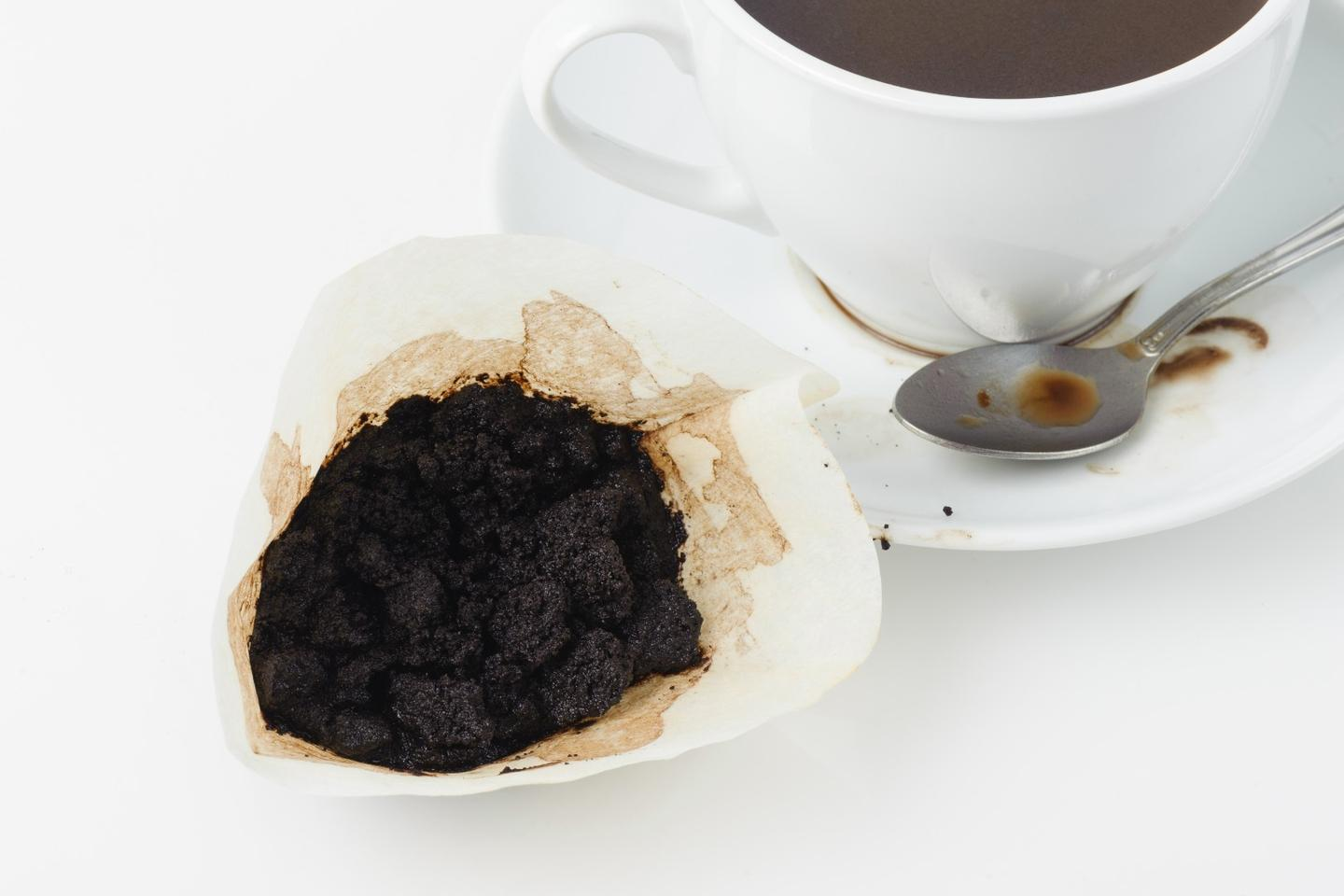 There's now yet another use for used coffee grounds like these