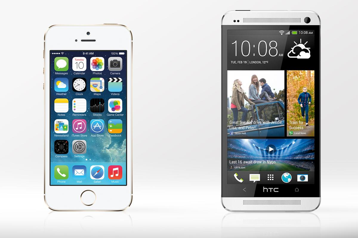 Gizmag compares the features and specs of the iPhone 5s and HTC One