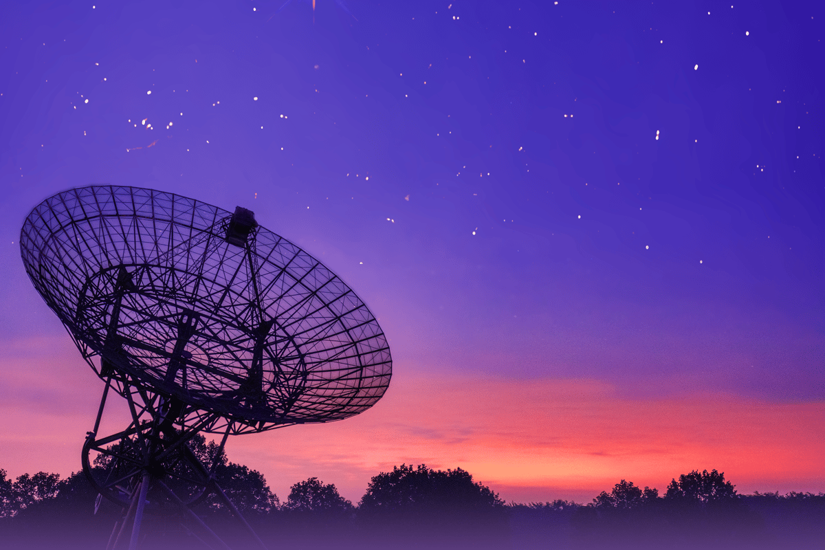 The Westerbork Synthesis Radio Telescope (WSRT) in the Netherlands
