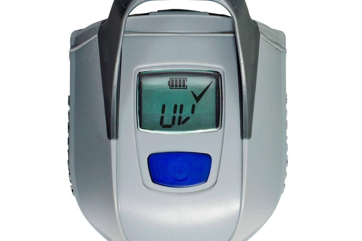 The LCD screen lets you know when purification is done