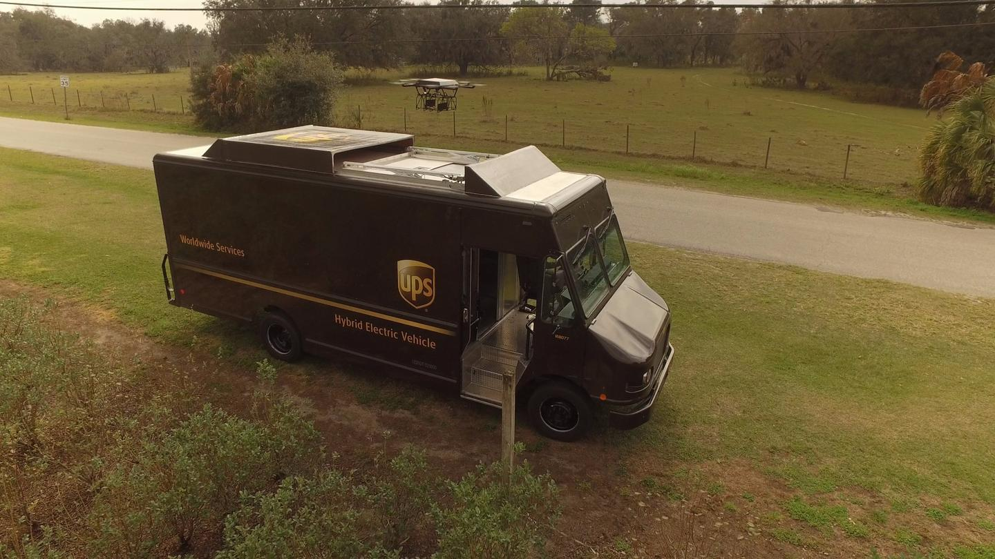 UPS has conducted a field trial of a delivery drone that launches from the roof of a UPStruck