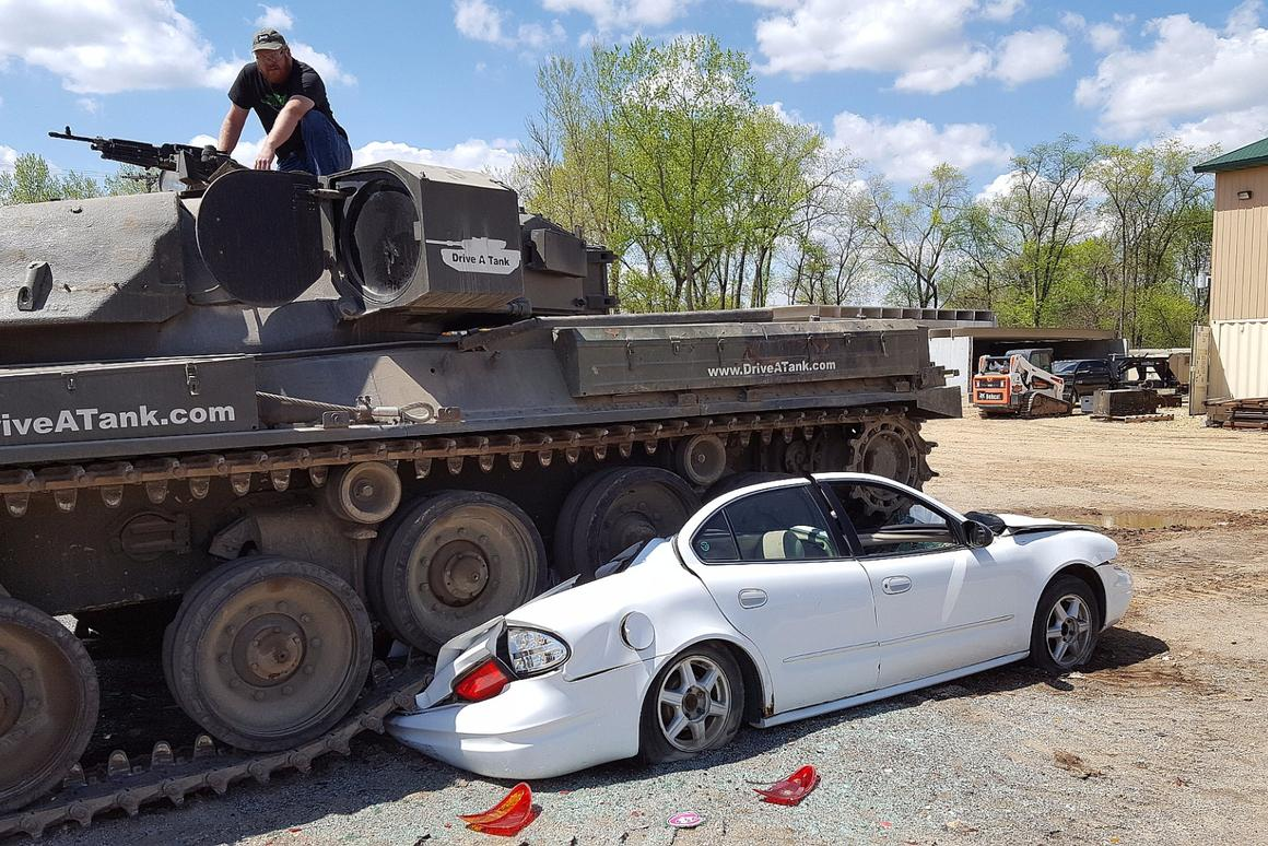 Drive A Tank >> Driving Tanks And Crushing Cars In The Woods Of Minnesota