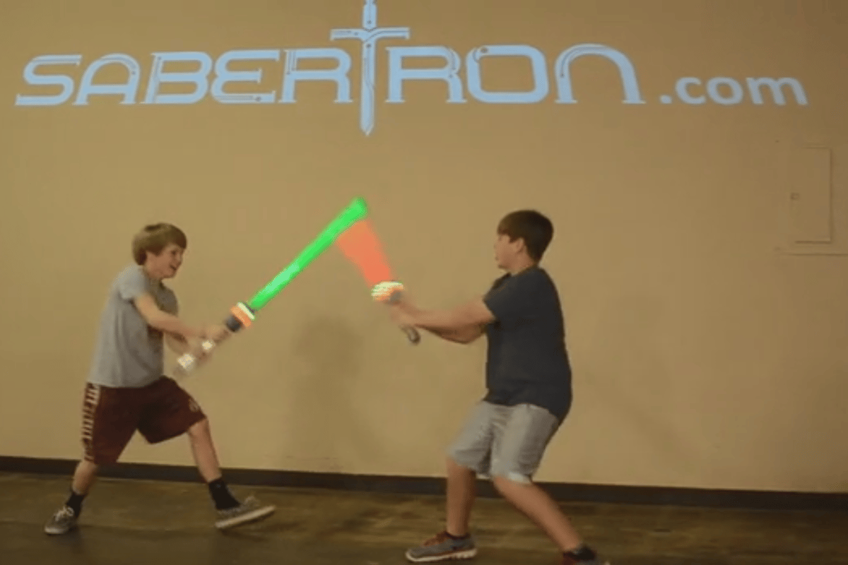 The Sabertron swords in action