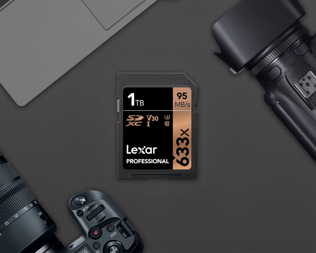 The 1 TB Lexar Professional 633x SDXC UHS-1 memory card is available now