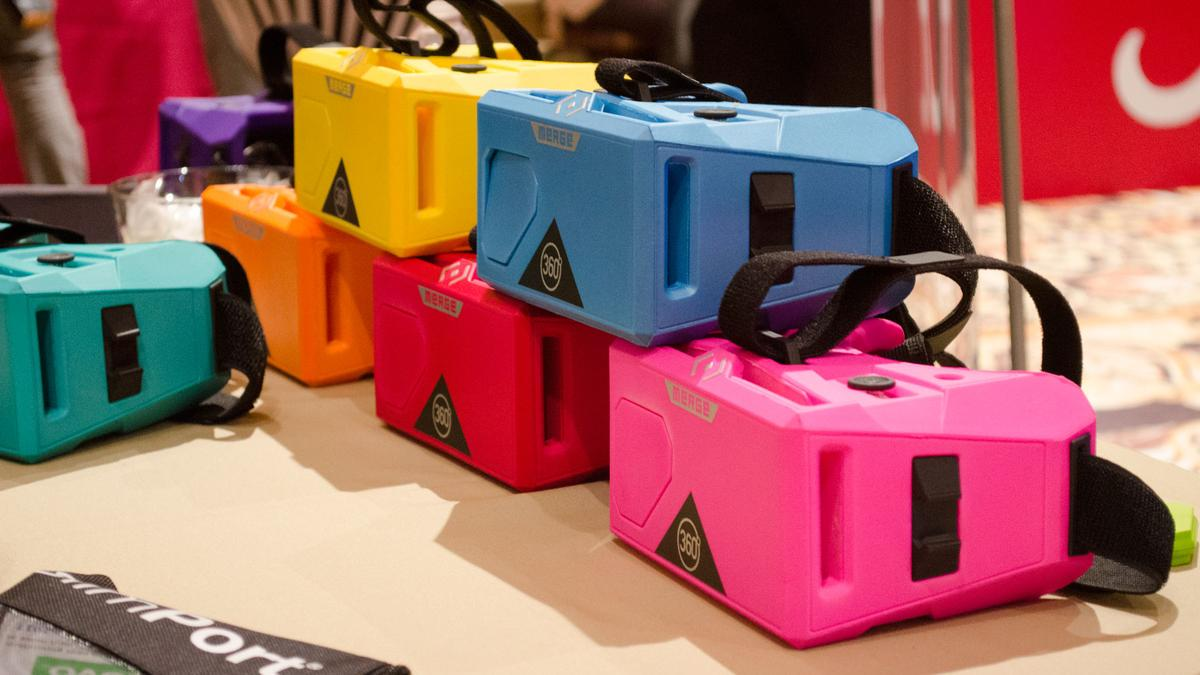 New colors of Merge VR's mobile headset CES2017