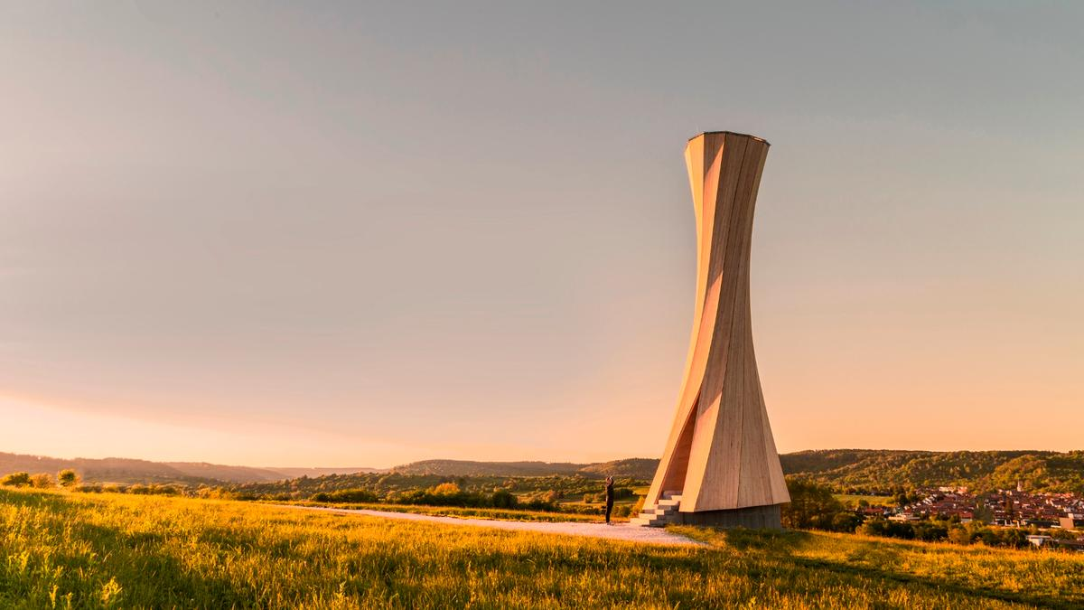 Though the Urbach Tower certainly makes for an impressive spectacle, the hope is that it acts as a proof-of-concept for a form of self-shaping architecture