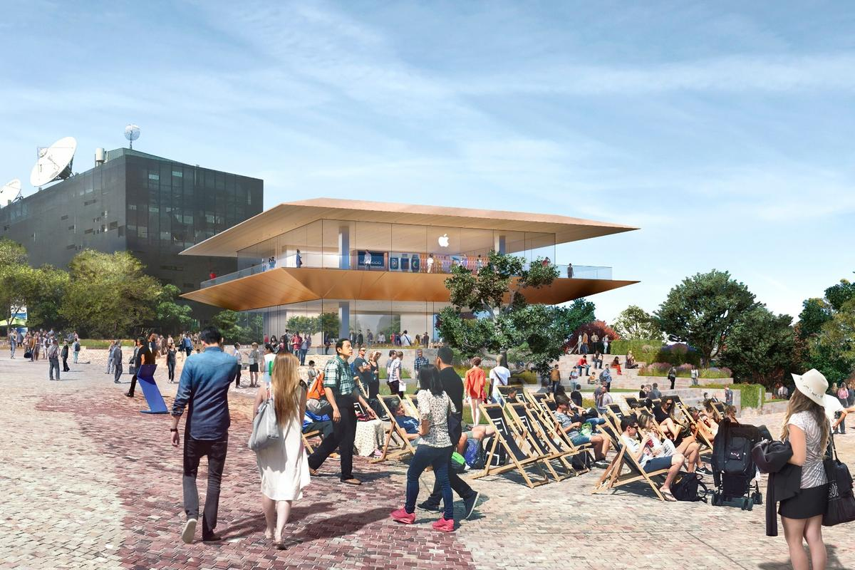 Apple Federation Square will be one of just five Apple flagship stores around the world