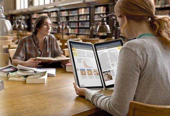 The Kno looks to replace large, heavy textbooks with a digital two screen tablet