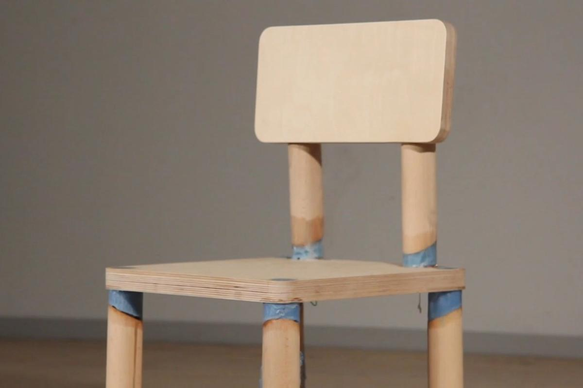 "The ""DRM Chair"" is rigged with a counter that triggers it to fall to pieces after being sat on eight times"
