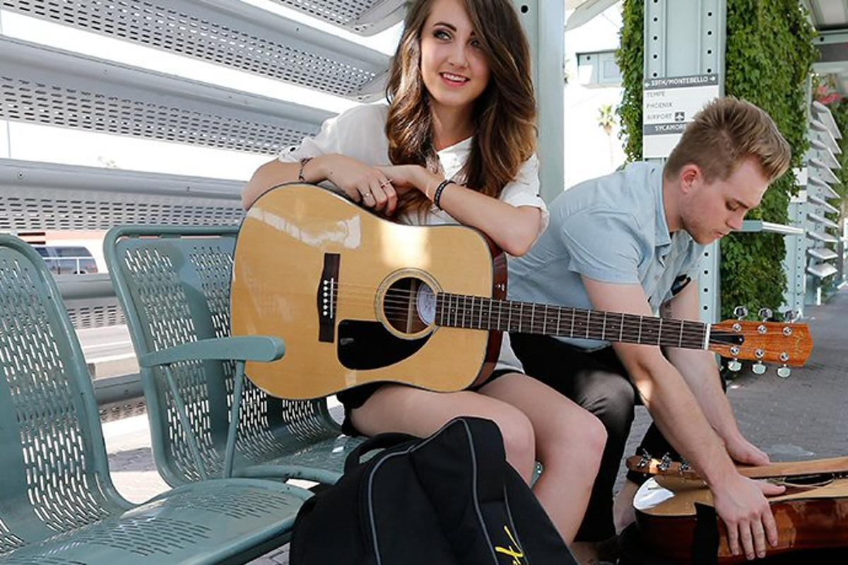 The travel-friendly Fender VA acoustic guitars
