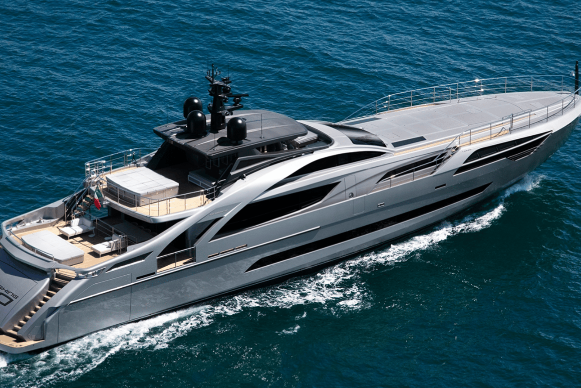 The new Pershing 140 is the brand's new flagship yacht