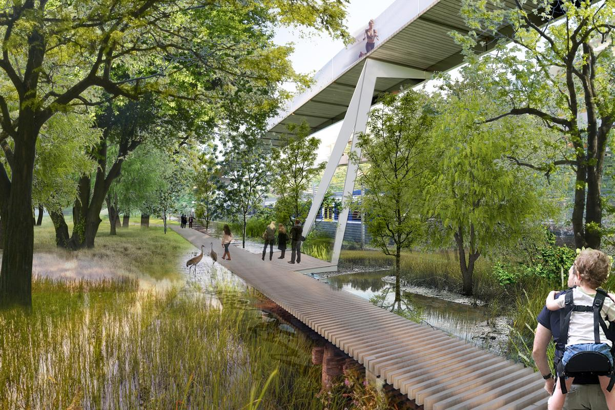 The High Line-style elevated walkways will be a major attraction of Parco Romana