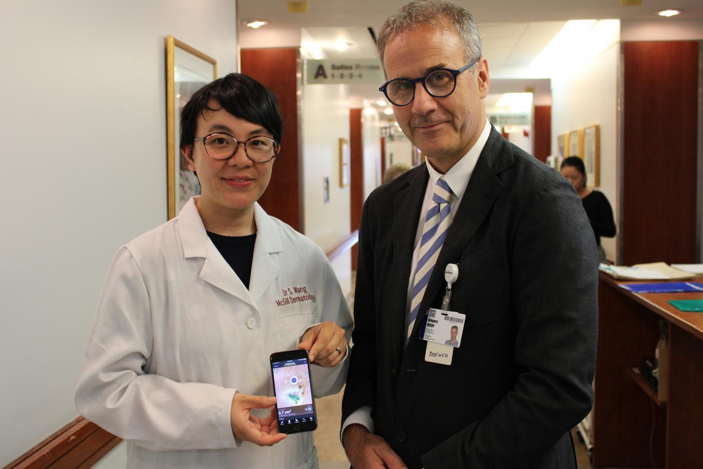Drs. Sheila Wang and Greg Berry, with the Swift Skin and Wound app