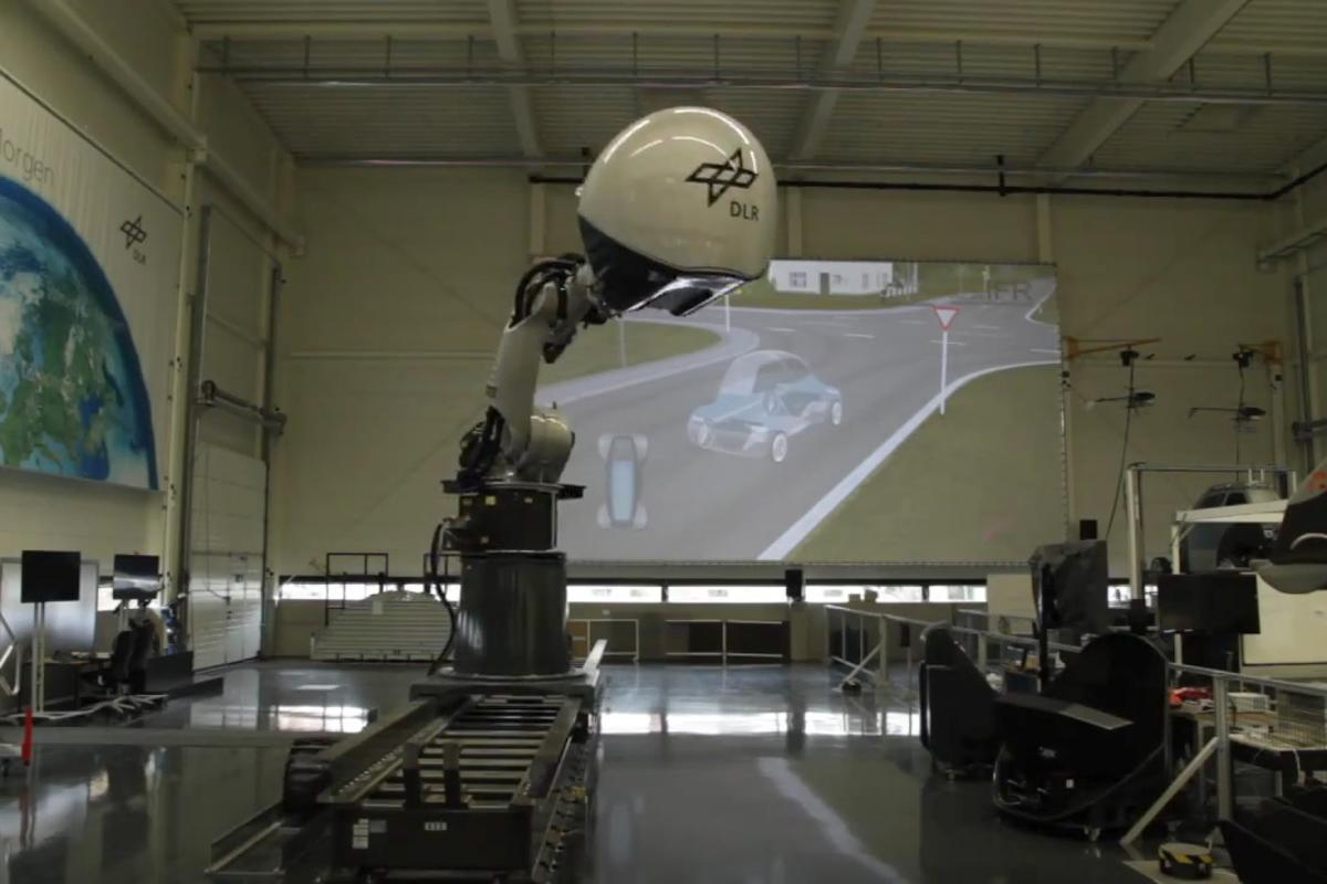 The DLR Robotic Motion Simulator accurately recreates the sensation of swerving on the road