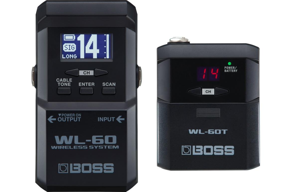 The low-latency WL-60 Wireless System offers guitarists up to 65 feet of (almost) cable-free playing