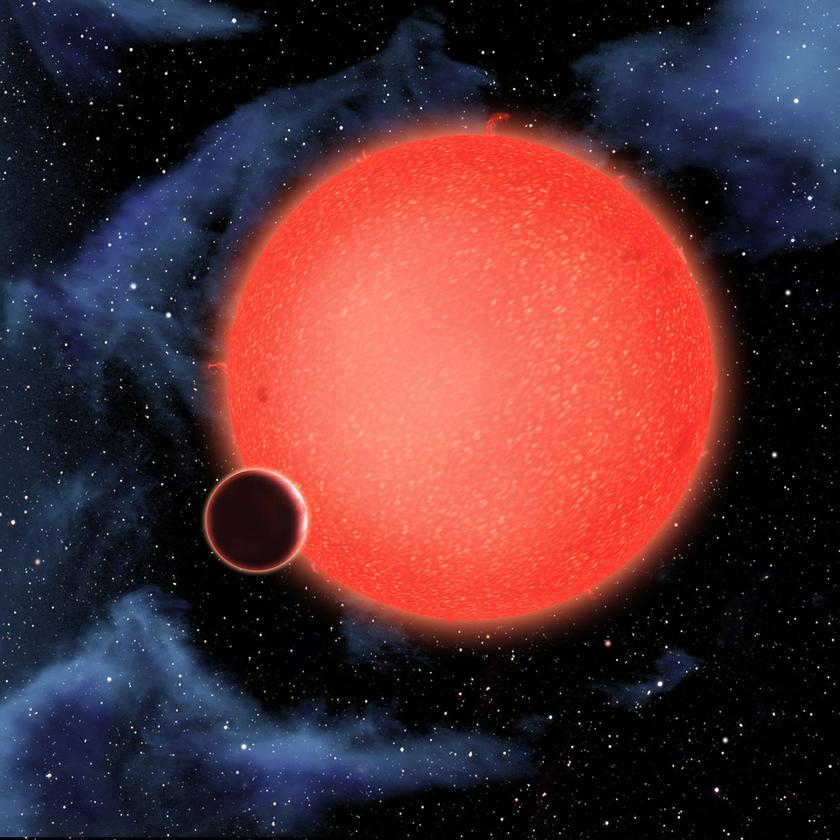 Artist's view of GJ1214b (Image credit: NASA, ESA, and D. Aguilar (Harvard-Smithsonian Center for Astrophysics))