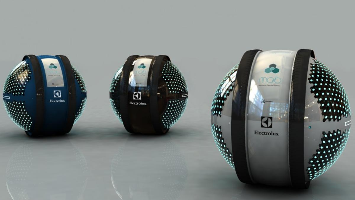 """Young designer Adrian Perez Zapata from Colombia, won this year's competition with his automated home cleaning concept entitled """"Mab"""""""