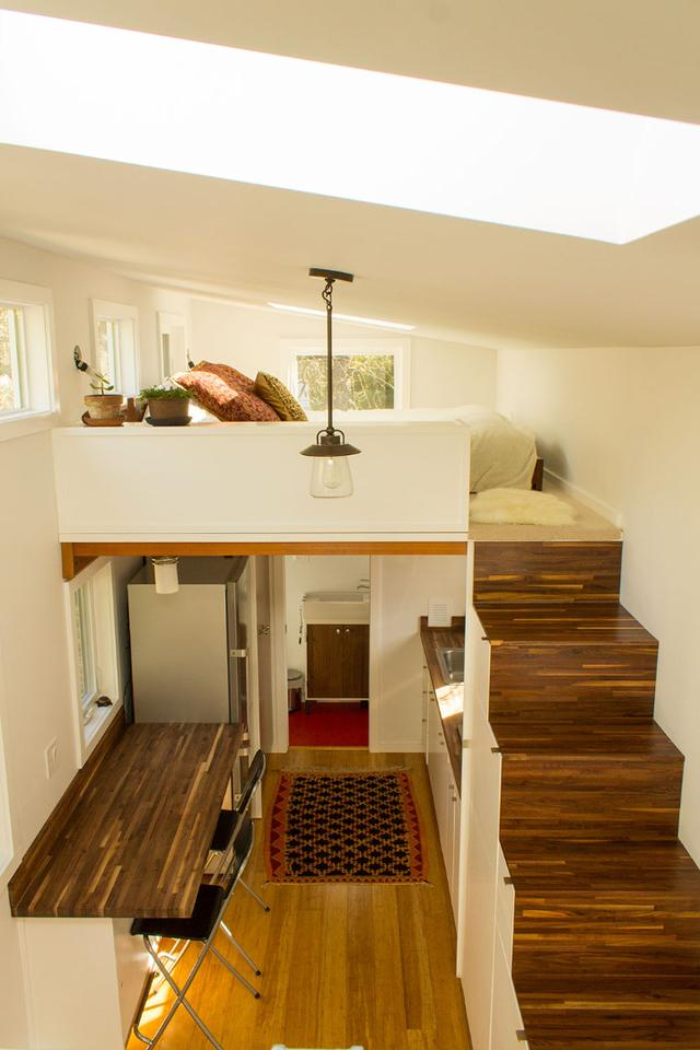 A lot of effort has gone into making this tiny home not only practical but also very comfortable to live in