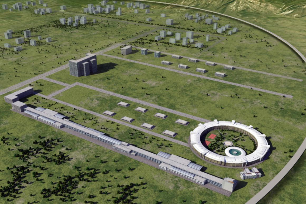 Rendering of the proposed CEPC