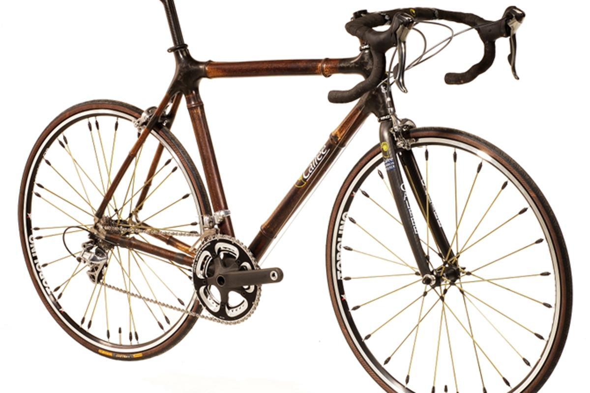 The Calfee Design Bamboo road racing bike