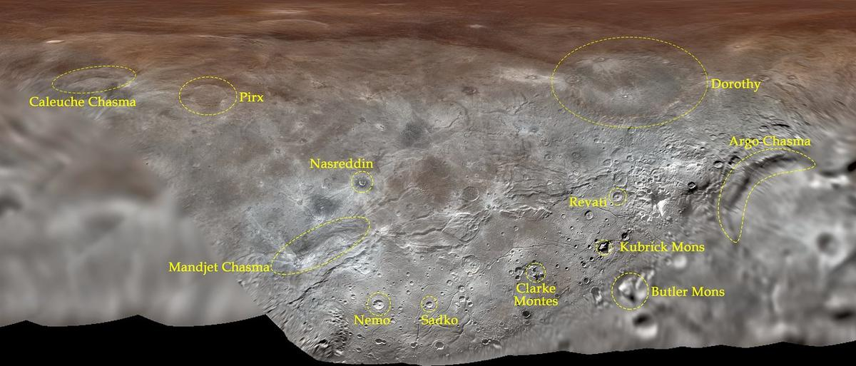 The names of features on Charonwere taken from fictional and real explorers and visionaries