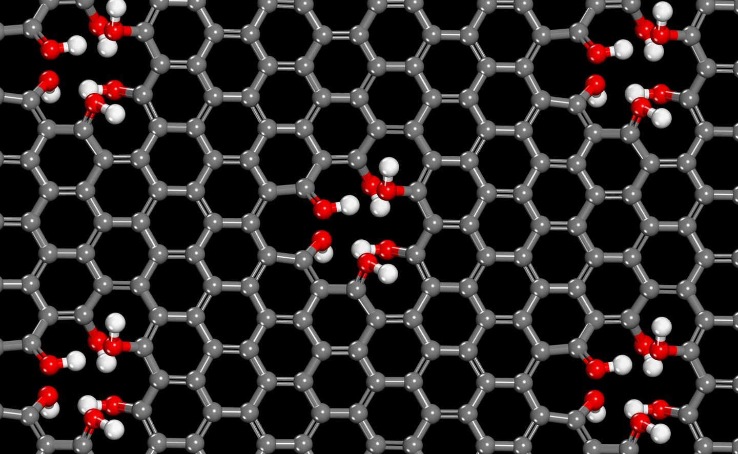 Don't throw that graphene away – its holes are proton-friendly (Image: University of Minnesota)