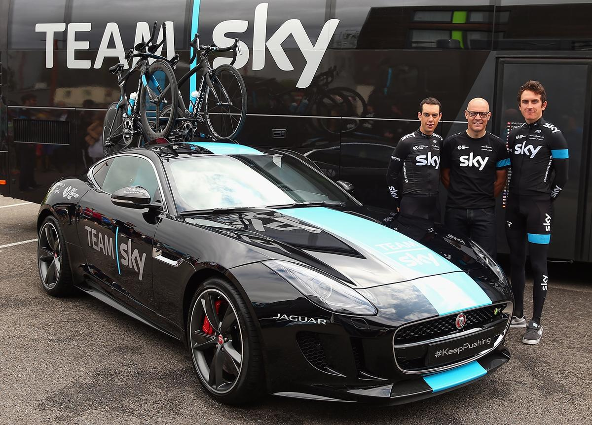 Team Sky and the new Jaguar F-Type