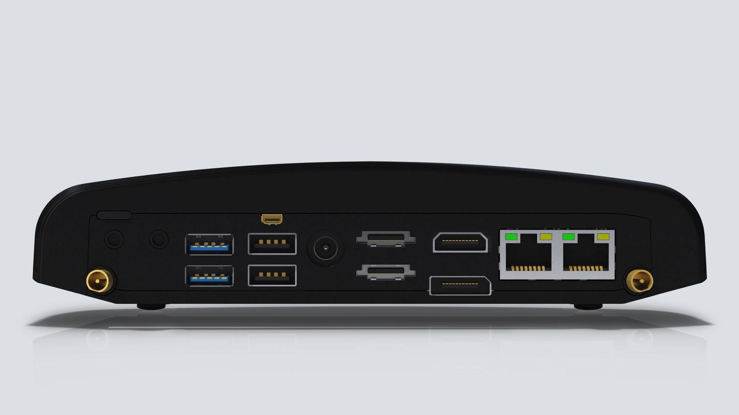 The upgraded Intense PC offers up to 16GB DDR3 of RAM, dual-head high definition displays, 7.1 channels digital audio in/out, dual Gigabit LAN, two USB 3.0 ports and up to six USB 2.0 ports, dual eSATA, two mini-PCIe sockets, 802.11b/g/n Wi-Fi, Bluetooth 3.0 and even an RS232 serial port