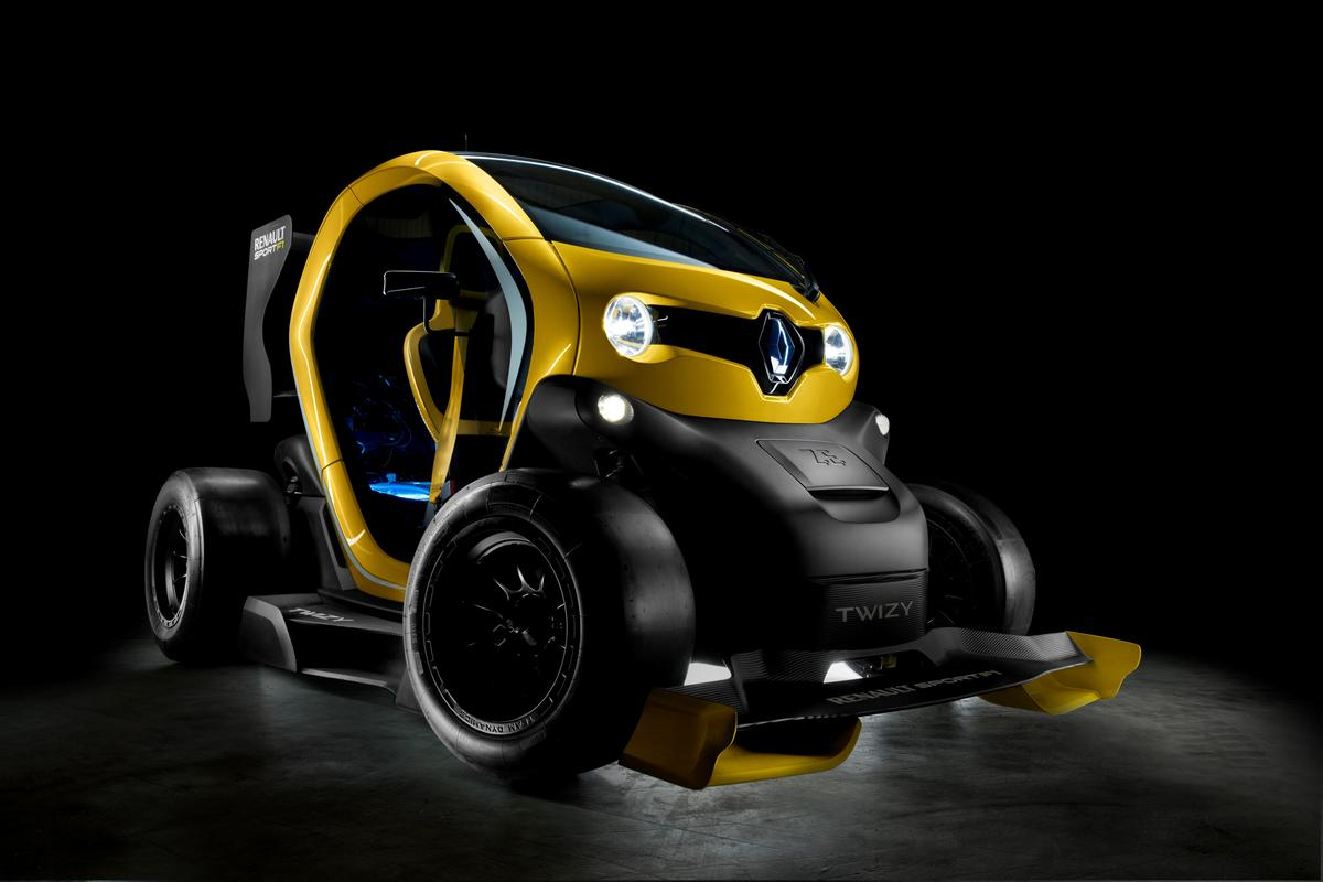 Like a cross between Wall-e and a Formula 1 golf cart, Twizy's Sport F1 is all for fun